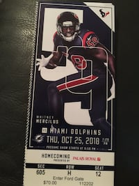 Texans vs. Dolphins tickets  Cypress, 77429