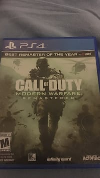 Call of Duty modern warfare ps4 excellent condition  Houston, 77082