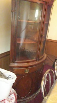 brown wooden display cabinet Richmond, 23225