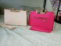 two pink and brown leather crossbody bags Vancouver, V5S 1K3