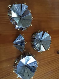 Fishing Tackle  3oz pyramid sinkers  30 cents per ounce