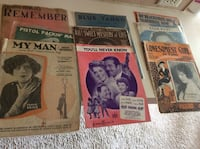 Piano sheet Music from the 1920s -1930s -1940s North Fort Myers, 33903