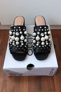 Aldo Mules with Pearls and Jewels