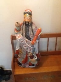 Huge chinese porcelain statue