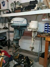 gray and black Evinrude outboard motor Bloomsburg, 17815