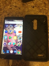 black android smartphone with black case Aurora, 80010