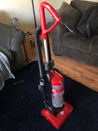 red and black upright vacuum cleaner Chantilly, 20151