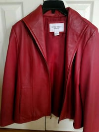 Nine West Red Leather Jacket Women's Size M