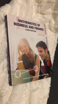 Mathematics of Business And Finance Brampton, L6P 3N8