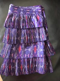 70% cotton 30% silk skirt . Layered with lining . Burnaby, V5H 1Z9