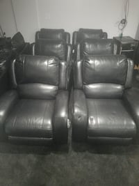 THEATER CHAIRS BLACK LEATHER each chair $500 Hyattsville, 20782