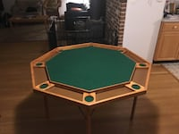 Folding wooden poker table Manassas, 20112