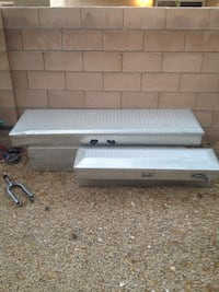 two gray stainless steel truck saddle boxes North Las Vegas, 89081