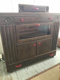 Brown wooden cabinet with drawer Rosser