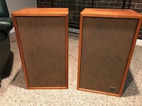 two brown wooden framed speakers Farmington Hills, 48336