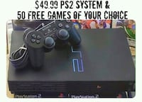 Black Sony PS2 with 50 FREE Games of Your Choice  Roseville, 95678