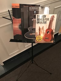 Ukulele, tuner, music stand and 3 beginner music books Hamilton, L8P 1X8