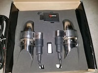 Dual stainless steel exhaust cutouts 764 mi