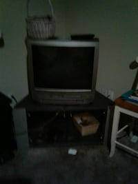 TV and TV stand TV has DVD and VHS Wilmington, 28405