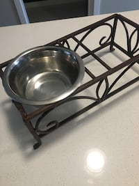 Raised Wrought Iron Dog Bowl Stand - Small Dog Calgary, T2Z 4R2