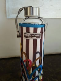 Henri Bendel Water Bottle with removable and washable neoprene sleeve