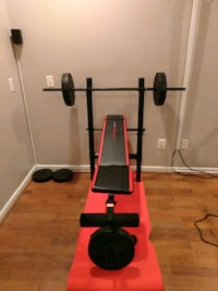 black and red bench press Centreville