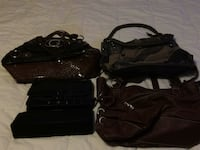 black leather crossbody bag and wallet Markham, L3S 1S6