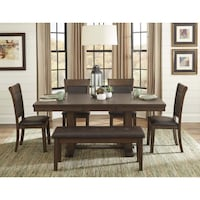 brown wooden dining table set Wasaga Beach