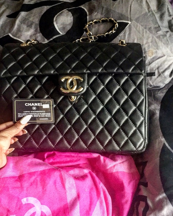 a731b0e4e9ac Used Quilted black chanel leather crossbody or Hand Carry bag 100%  AUTHENTIC I DO HAVE PROOF for sale in Atlanta - letgo