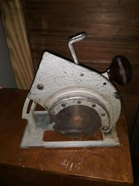 Antique vintage drill powered circu.lar saw