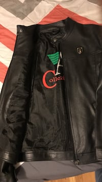 New black fine leather jacket( A)collection Washington, 20011