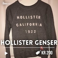grå Hollister California 1922 crew-neck sweatshirt Tjodalyng, 3280