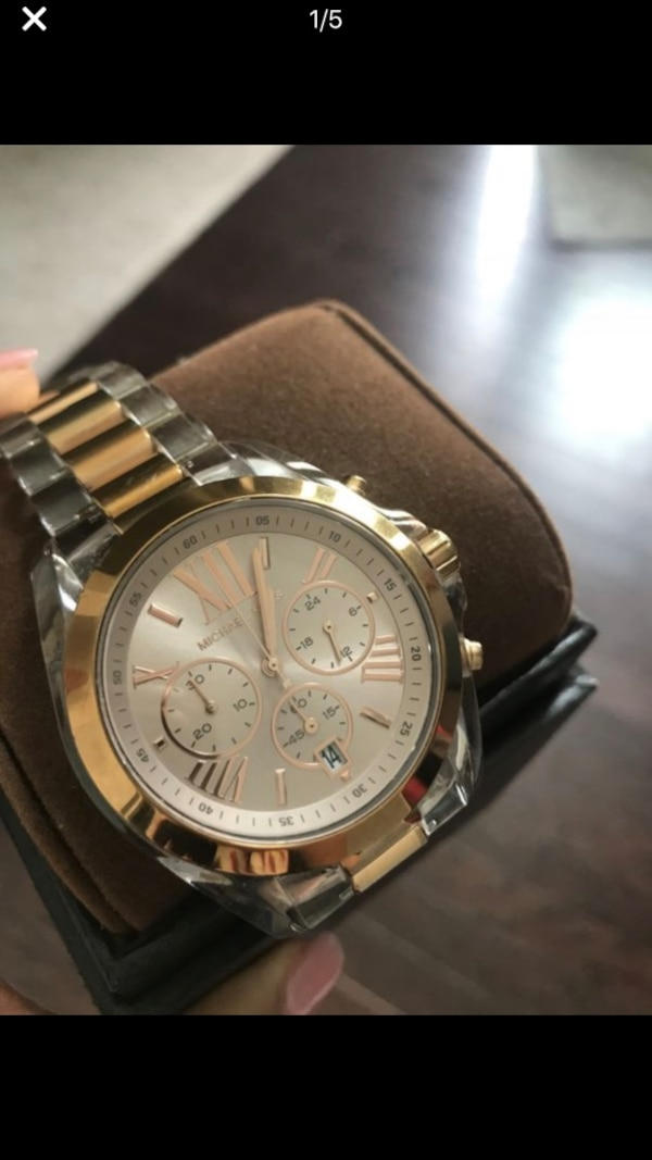d26bd00af9e3 Used MICHAEL KORS MK WATCH - CLEAR BAND for sale in Buford - letgo