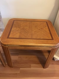 2 (two) side end tables matching set...$15 each :) New York, 11385