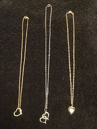 "All 3 for $10 2 16"" gold plated necklaces and 1 18""silver plated necklace Edmonton, T5W 2X2"