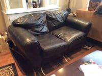 Genuine black leather love seat  Whitchurch-Stouffville, L4A 3K1