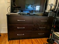 brown wooden dresser with mirror (sold separately) West Vancouver, V7T 1L9