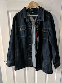 black denim button-up jacket Edmonton, T6T 1N1