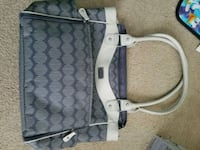 white and gray diaper bag Converse, 78109
