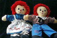 Classic Raggedy Ann and Andy dolls/puppets Cooksville, 21723