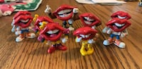Vintage 1980s 'Tang' Mouth Figurines