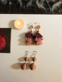 NEVER WORNTWO PAIRS OF EXPRESS DANGLE EARRINGS ORIGINALLY $24.90 EACH