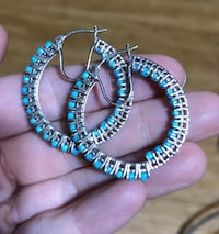 Sleeping Beauty Turquoise Hoop Earrings Fredericksburg, 22405