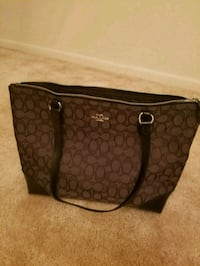 brown Coach monogram leather tote bag Rockville, 20852