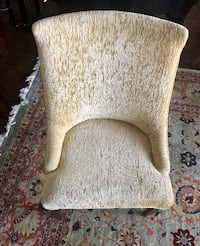 4 champagne chenille dining chairs $150 a chair CHICAGO