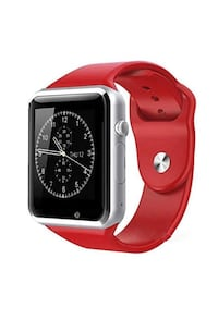 New red smart watch works with iPhone and Samsung and lg