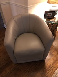 Grey Leather Swivel Chair Canton, 30114