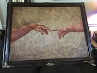 """Michelangelo's """"Creation of Adam"""" painting on canvas Madison, 39110"""