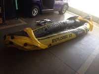 Yellow and black Explorer K2 Inflatable kayak new