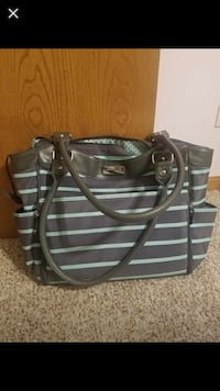black and gray leather tote bag Palos Hills, 60465